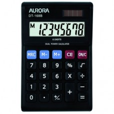 8 DIGITS, DUAL POWER (BLACK)